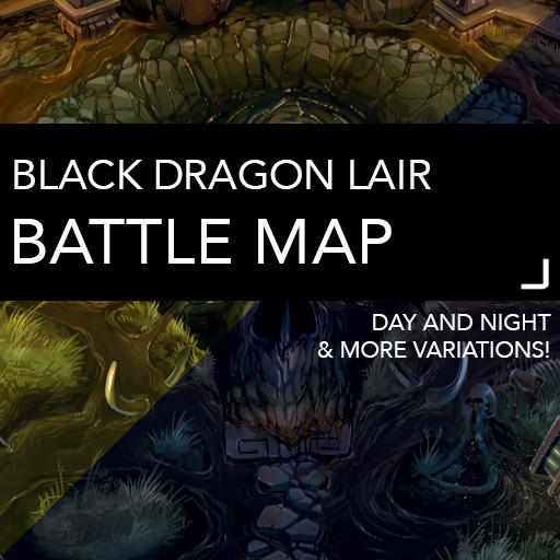 Black Dragon Lair Battle Map