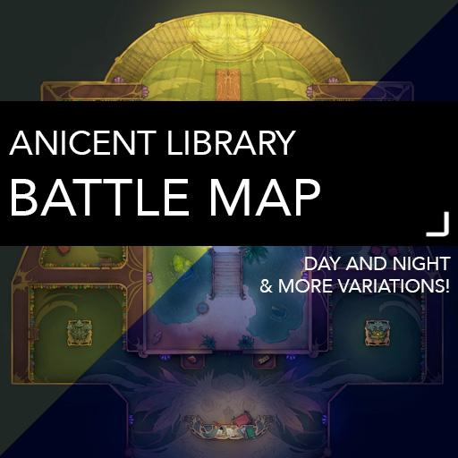 Ancient Library Battle Map