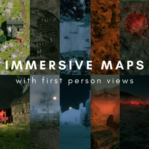 Immersive Battlemaps with First Person Views