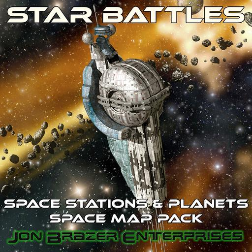 Star Battles: Space Stations and Planets Space Map Pack