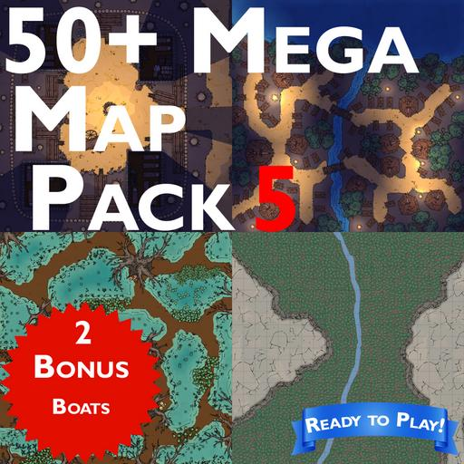 50+ Mega Map Pack 5 with extras