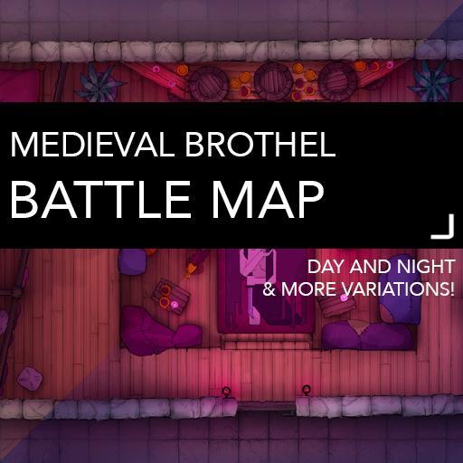 Medieval Brothel Battle Map