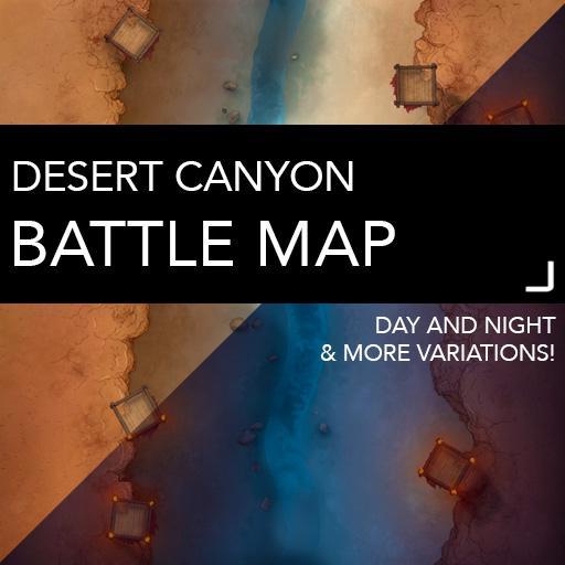 Desert Canyon Battle Map