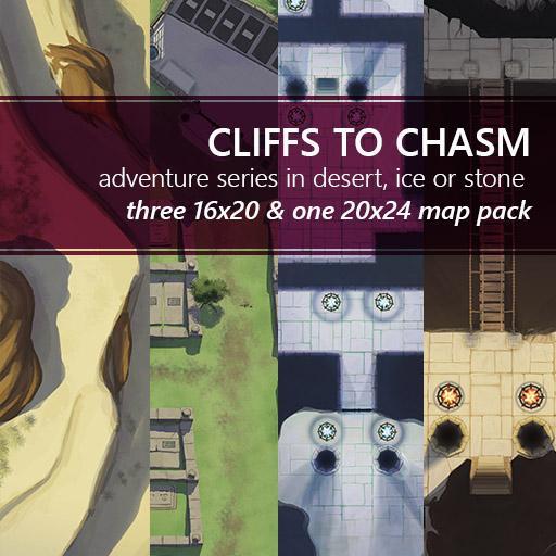 Cliffs to Chasm Adventure Battlemap Pack