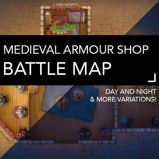 Medieval Armour Shop Battle Map