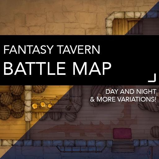 Fantasy Tavern Battle Map
