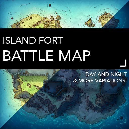 Island Fort Battle Map