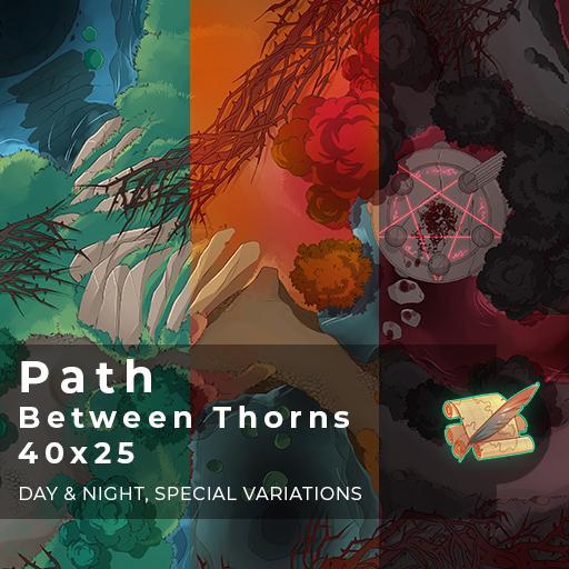 Path Between Thorns Battlemap