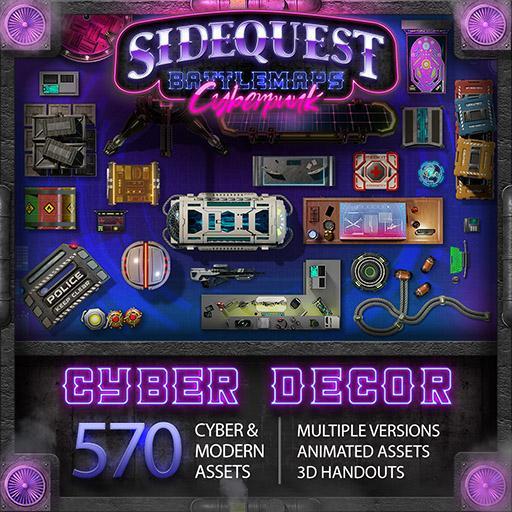 Sidequest Battlemaps: Cyberpunk Decor