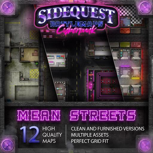 Sidequest Battlemaps: Cyberpunk Mean Streets