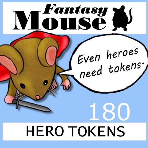 Fantasy Mouse Hero Tokens