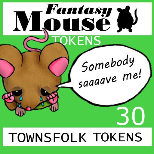 Fantasy Mouse Townsfolk Tokens
