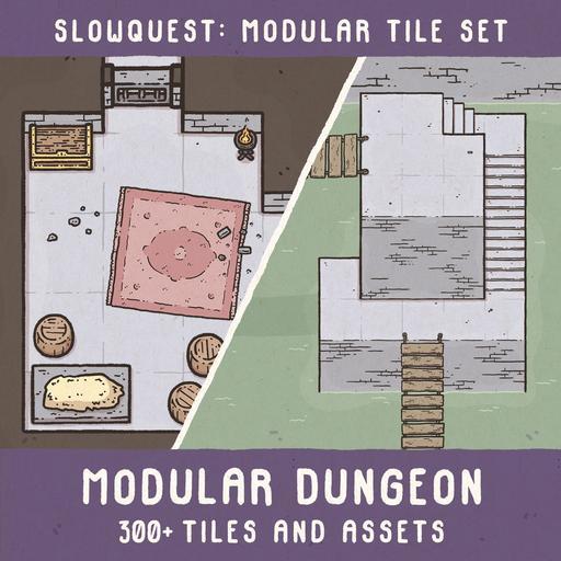 Slowquest Modular Dungeon Tiles & Assets