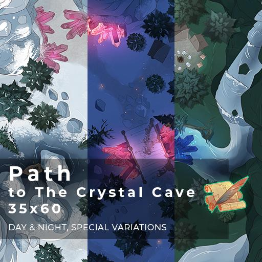 Path to The Crystal Cave Battlemap