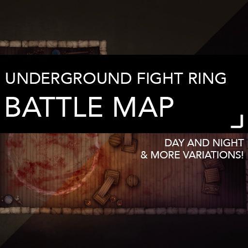 Underground Fight Ring Battle Map