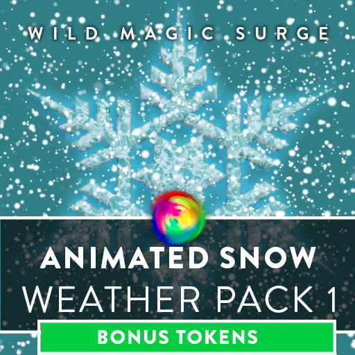 Animated Snowy Weather with Bonus Tokens