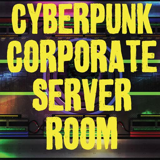 Cyberpunk Corporate Server Room