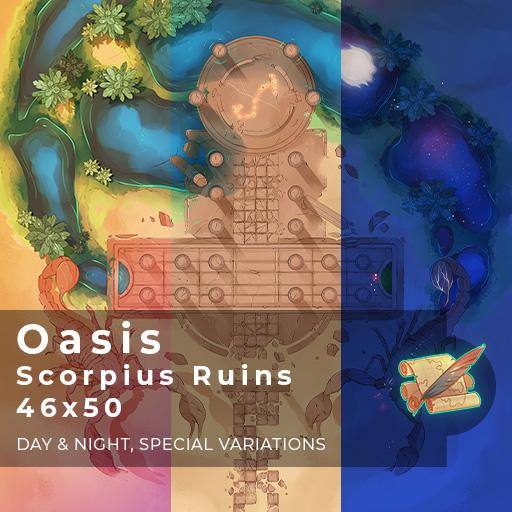 Oasis Scorpius Ruins Battlemap