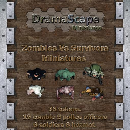 Zombies Vs. Survivors Tokens