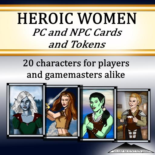HEROIC WOMEN - PC and NPC Cards and Tokens