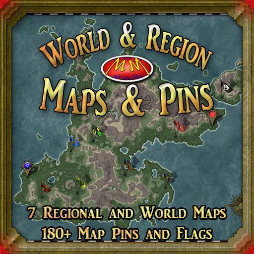 World & Region Maps & Pins
