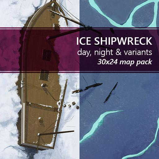 Ice Shipwreck Battlemaps
