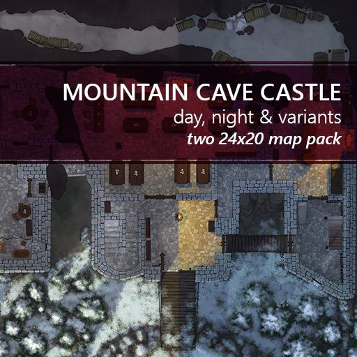 Mountain Cave Castle Battlemaps