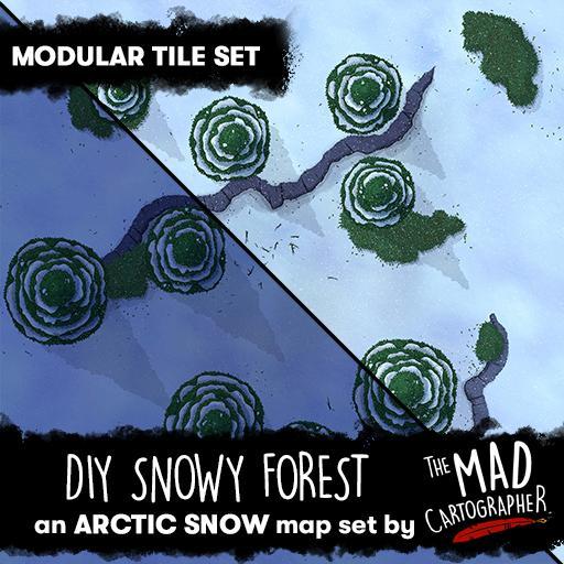 DIY Snowy Forest - Modular Tile Pack