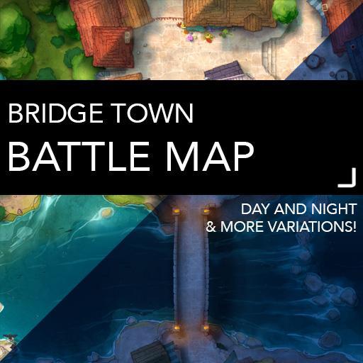 Bridge Town Battlemap