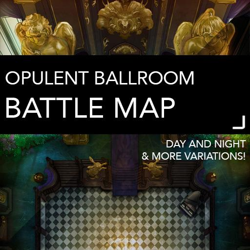 Opulent Ballroom Battlemap
