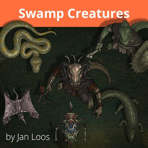 Jans Token Pack 25 - Swamp Creatures
