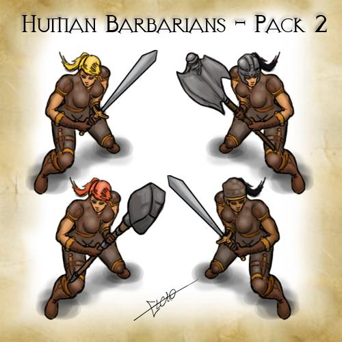 Human Barbarians Pack 2