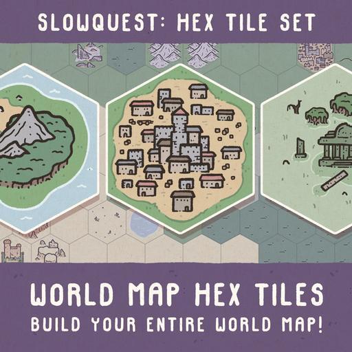 World Map Hex Tiles