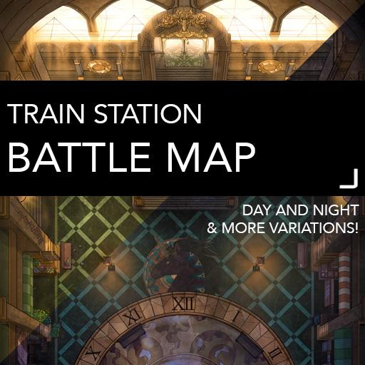 Train Station Battle Map