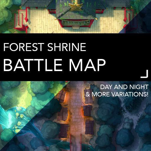 Forest Shrine Battle Map