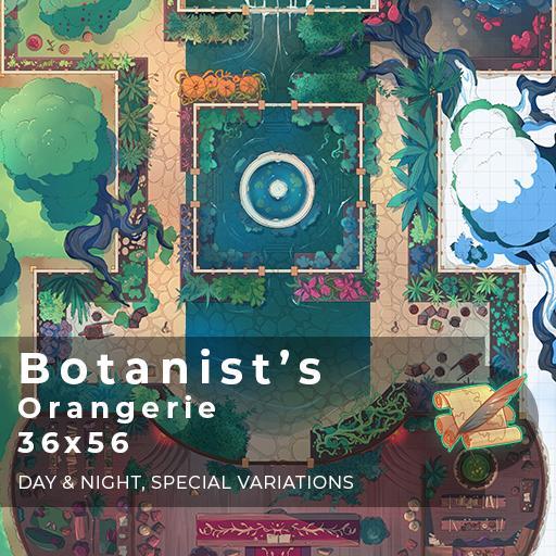 Botanist's Orangerie Battlemap