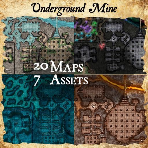 Underground Mine Dungeon Maps