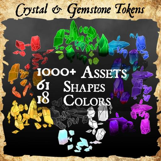 1,000+ Crystal & Gemstone Tokens and Assets