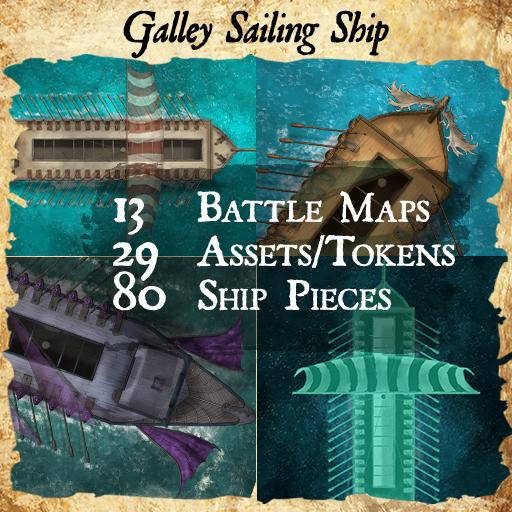 Galley Sail Ship Maps & Assets