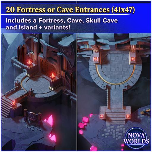 Fortress and Cave Entrances