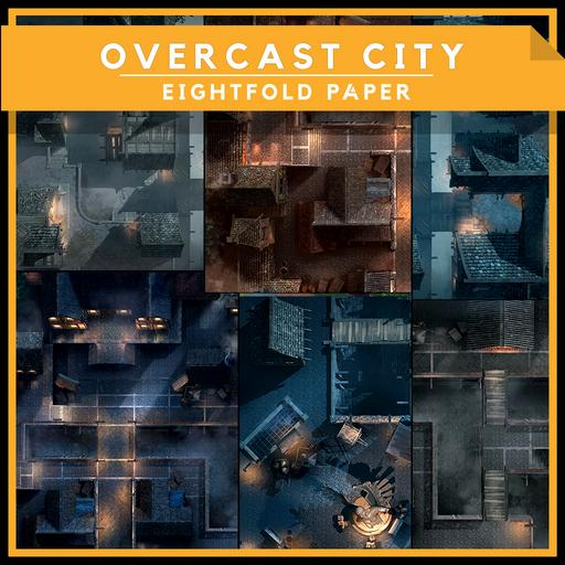 Overcast city [The Complete Pack] - Battlemap