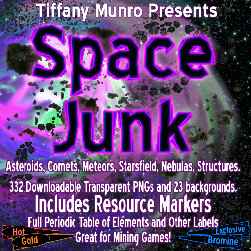 Space Junk: Asteroids, Comets, Meteors, Starsfield, Nebulas, and Resource Markers