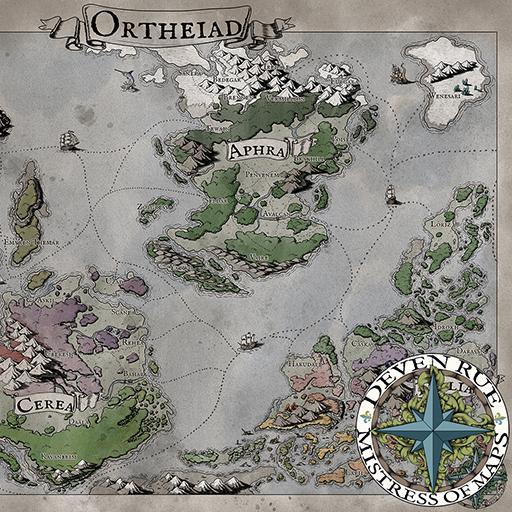 Ortheiad World Map