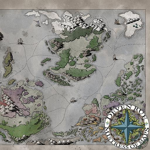 Ortheiad World Map without Labels