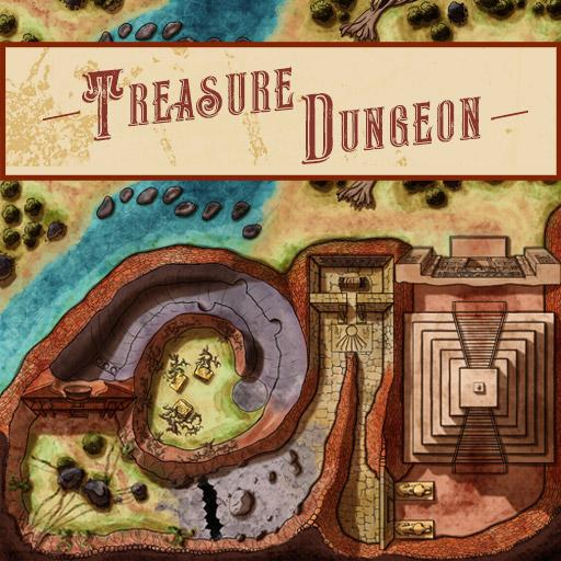 Treasure Hunt Dungeon Map
