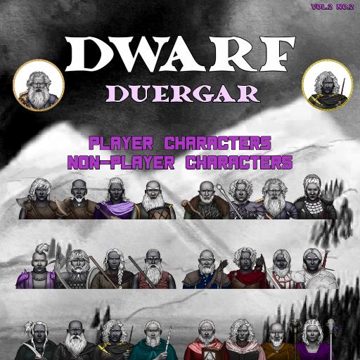 MBTB Tokens Vol.2 No.2 - Dwarf PC's & NPC's