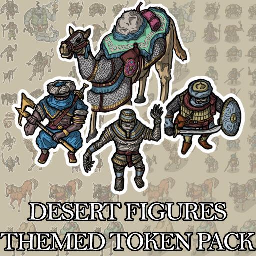Desert Figures - Themed Token Set
