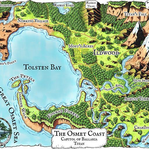 The Osmet Coast Map