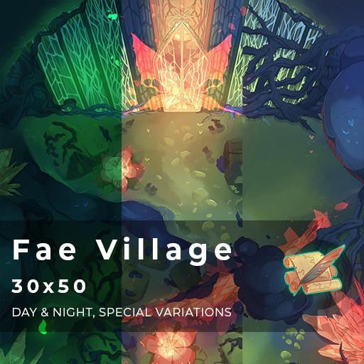 Fae Village Battlemap