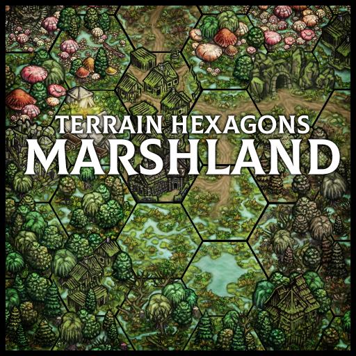 Terrain Hexagons: Marshland